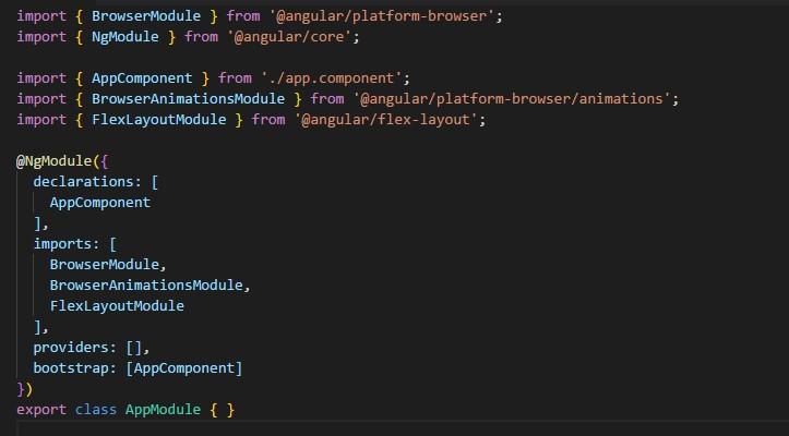 How to install Angular material and Angular Flex-box for Angular 6
